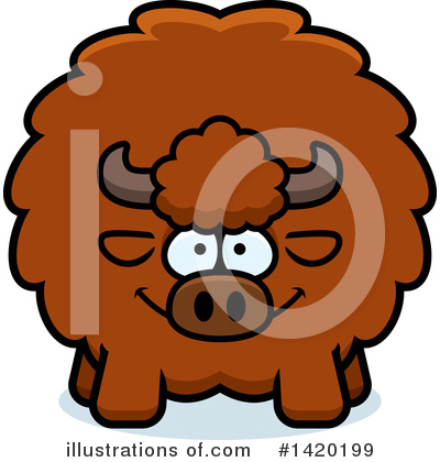 Buffalo Clipart #1420199 by Cory Thoman
