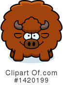 Royalty-Free (RF) Buffalo Clipart Illustration #1420199
