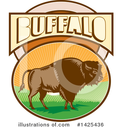 Buffalo Clipart #1425436 by patrimonio