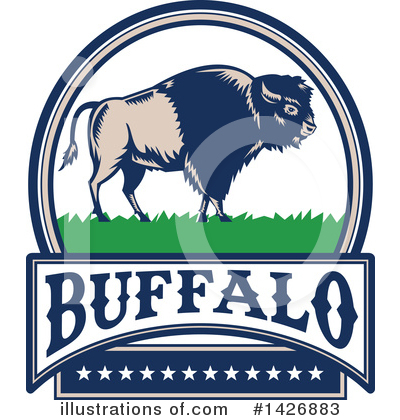 Buffalo Clipart #1426883 by patrimonio