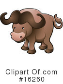 Royalty-Free (RF) buffalo Clipart Illustration #16260
