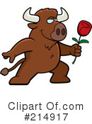 Royalty-Free (RF) Buffalo Clipart Illustration #214917