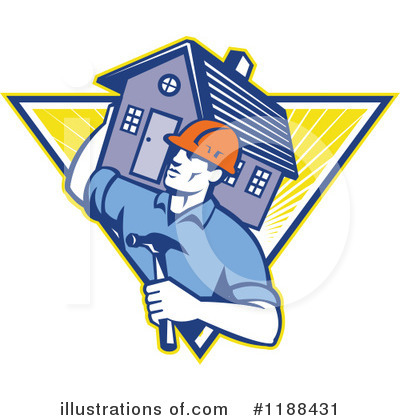 Royalty-Free (RF) Builder Clipart Illustration by patrimonio - Stock Sample #1188431