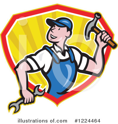 Royalty-Free (RF) Builder Clipart Illustration by patrimonio - Stock Sample #1224464