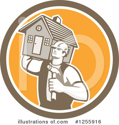 Royalty-Free (RF) Builder Clipart Illustration by patrimonio - Stock Sample #1255916