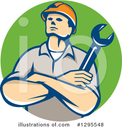 Builder Clipart #1295548 by patrimonio