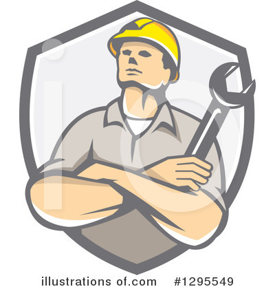 Royalty-Free (RF) Builder Clipart Illustration by patrimonio - Stock Sample #1295549
