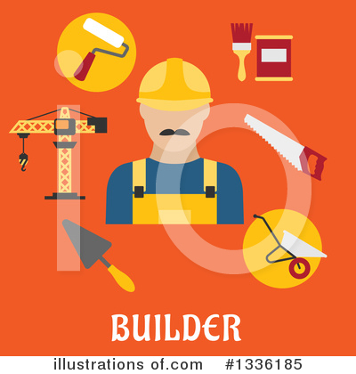 Builder Clipart #1336185 by Vector Tradition SM