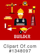 Builder Clipart #1348097 by Vector Tradition SM