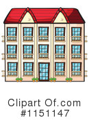 Royalty-Free (RF) Building Clipart Illustration #1151147