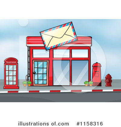 Post Office Clipart #1158316 by Graphics RF