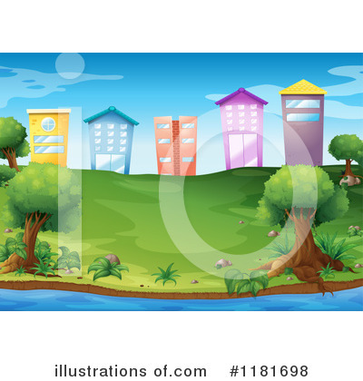 Royalty-Free (RF) Buildings Clipart Illustration by Graphics RF - Stock Sample #1181698