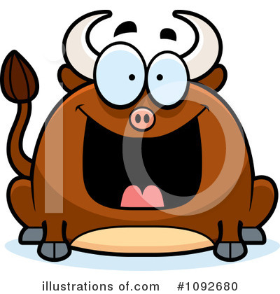 Bull Clipart #1092680 by Cory Thoman