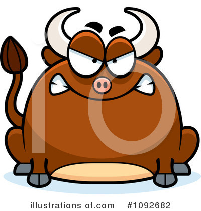 Bull Clipart #1092682 by Cory Thoman