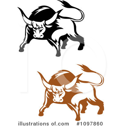 Bull Clipart #1097860 by Vector Tradition SM