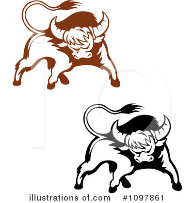 Bull Clipart #1097861 by Vector Tradition SM