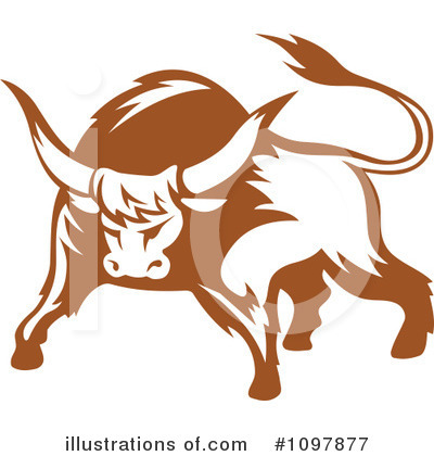 Bull Clipart #1097877 by Vector Tradition SM