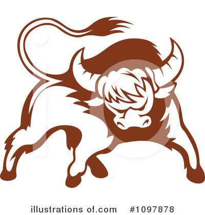 Bull Clipart #1097878 by Vector Tradition SM