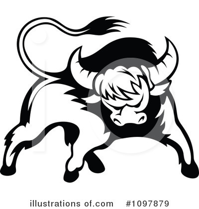 Bull Clipart #1097879 by Vector Tradition SM