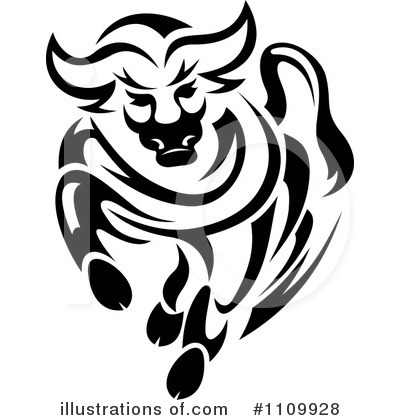Bull Clipart #1109928 by Vector Tradition SM