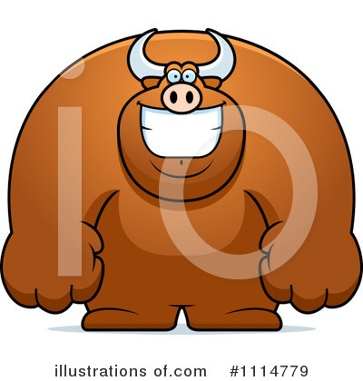 Bull Clipart #1114779 by Cory Thoman
