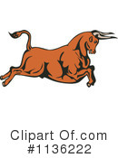 Royalty-Free (RF) Bull Clipart Illustration #1136222