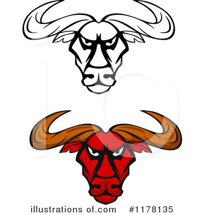 Bull Clipart #1178135 by Vector Tradition SM