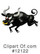 Royalty-Free (RF) Bull Clipart Illustration #12122
