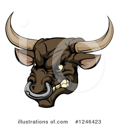 Bull Clipart #1246423 by AtStockIllustration