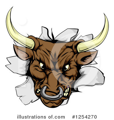 Bull Clipart #1254270 by AtStockIllustration