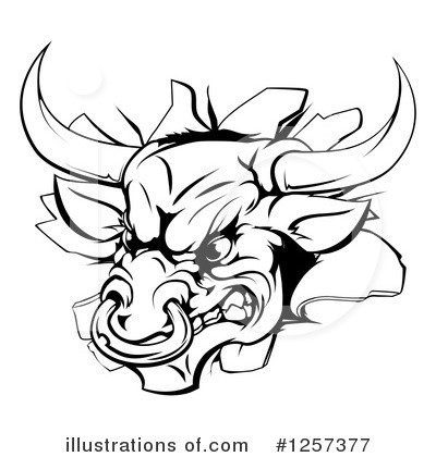 Bull Clipart #1257377 by AtStockIllustration