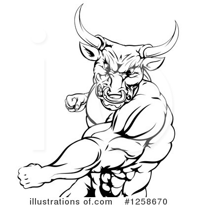 Bull Clipart #1258670 by AtStockIllustration