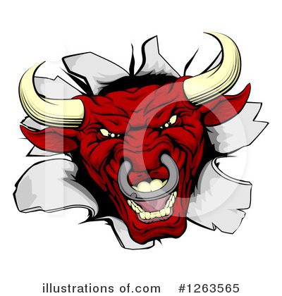 Bull Clipart #1263565 by AtStockIllustration