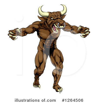 Bull Clipart #1264506 by AtStockIllustration