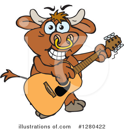 Bull Clipart #1280422 by Dennis Holmes Designs