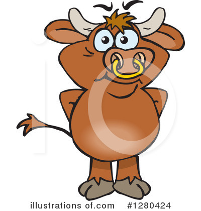 Cow Clipart #1280424 by Dennis Holmes Designs