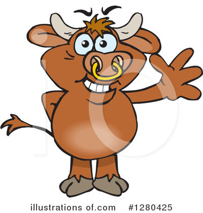 Bull Clipart #1280425 by Dennis Holmes Designs