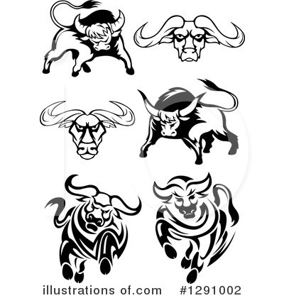 Bull Clipart #1291002 by Vector Tradition SM