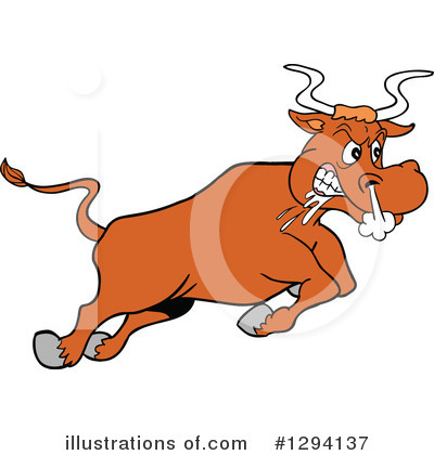Bull Clipart #1294137 by LaffToon