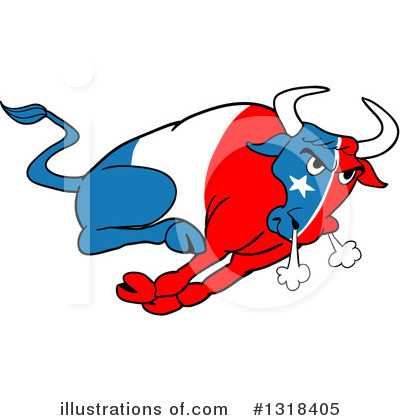 Bull Clipart #1318405 by LaffToon