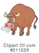 Royalty-Free (RF) Bull Clipart Illustration #211226