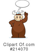 Royalty-Free (RF) Bull Clipart Illustration #214070