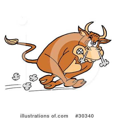 Bull Clipart #30340 by LaffToon