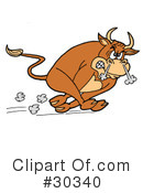 Royalty-Free (RF) Bull Clipart Illustration #30340