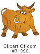 Royalty-Free (RF) Bull Clipart Illustration #31090