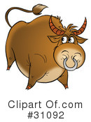 Royalty-Free (RF) Bull Clipart Illustration #31092