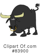 Royalty-Free (RF) Bull Clipart Illustration #83900