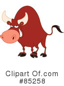 Royalty-Free (RF) Bull Clipart Illustration #85258