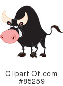 Royalty-Free (RF) Bull Clipart Illustration #85259