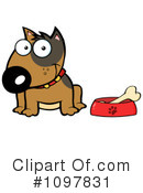 Royalty-Free (RF) Bull Terrier Clipart Illustration #1097831